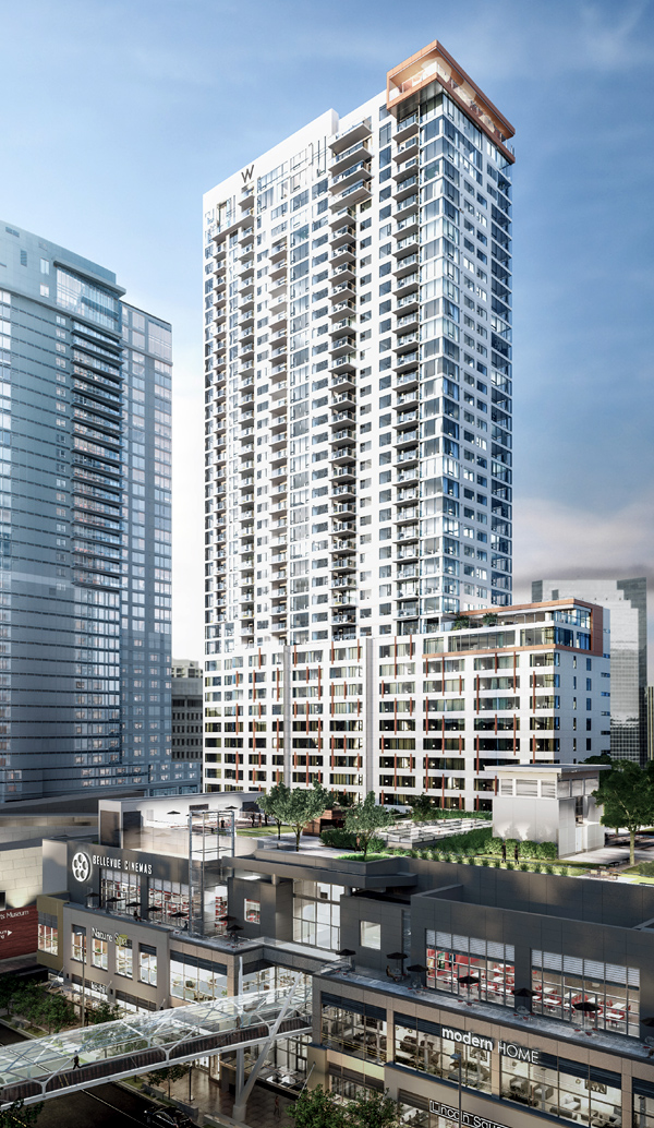 W Bellevue - rendering by Neoscape courtesy of Kemper Development Company