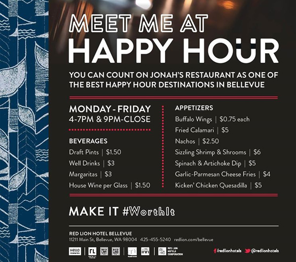 Jonah S Restaurant Bellevue Restaurants Happy Hours